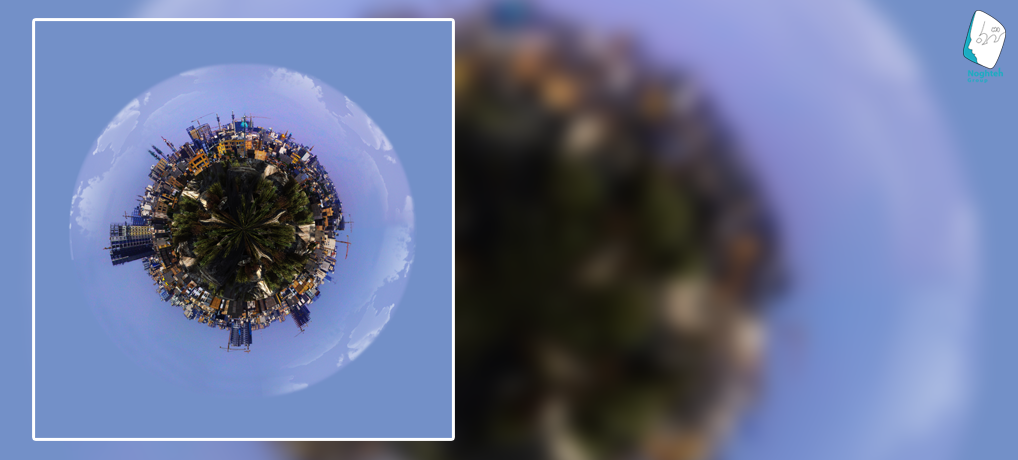 The City of Mashhad, Little planet photography